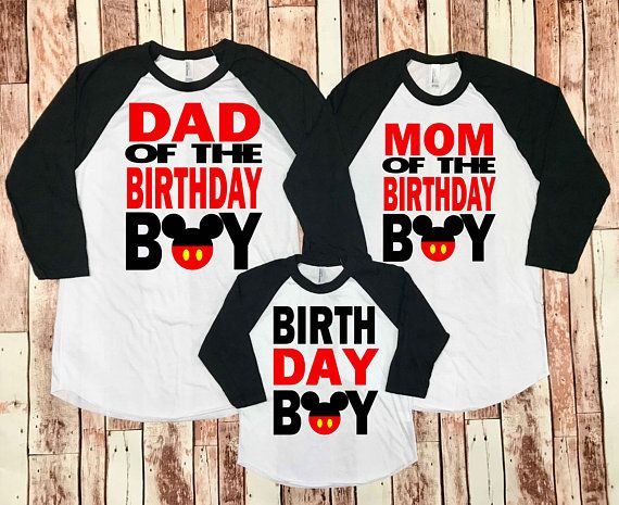 Mickey Mouse Birthday Shirt Boy 1st Party