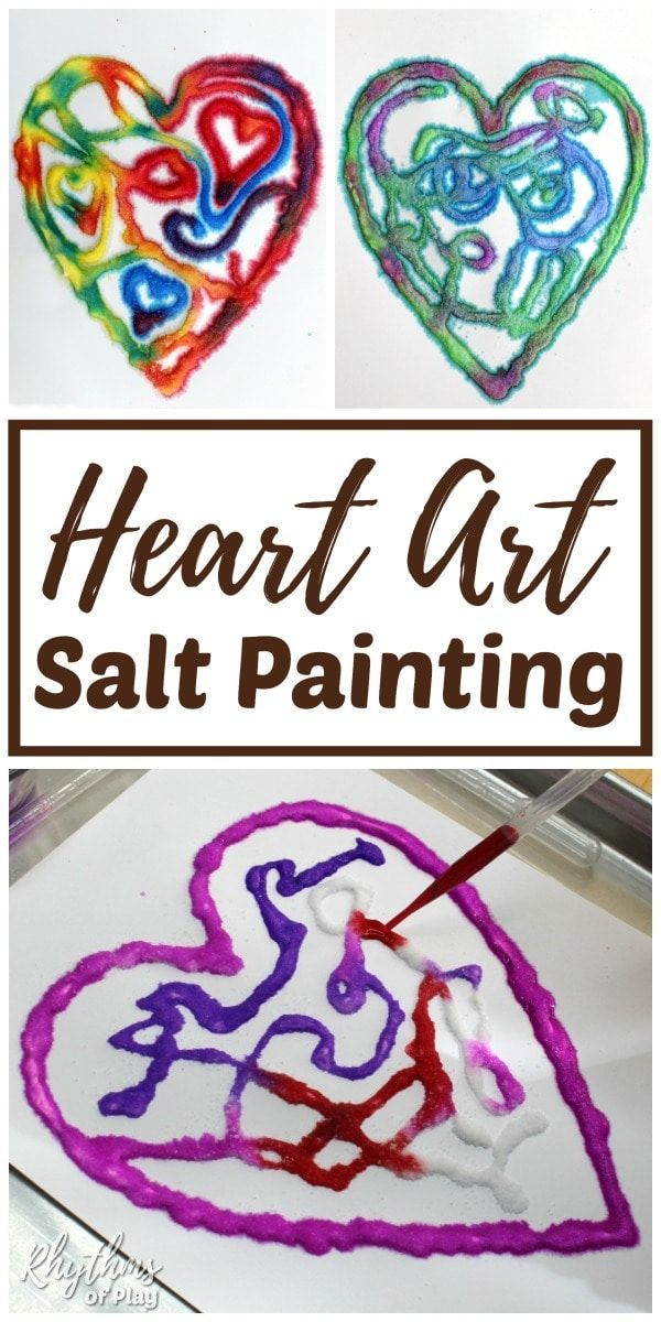 Heart Art Salt Painting Project
