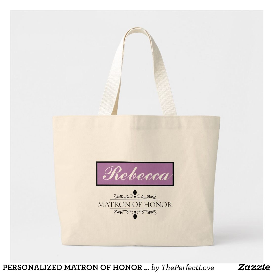Personalized Matron Of Honor Jumbo Tote Bag Zazzle Com Bridesmaids Personalized Wedding Tote Personalized Wedding Gifts