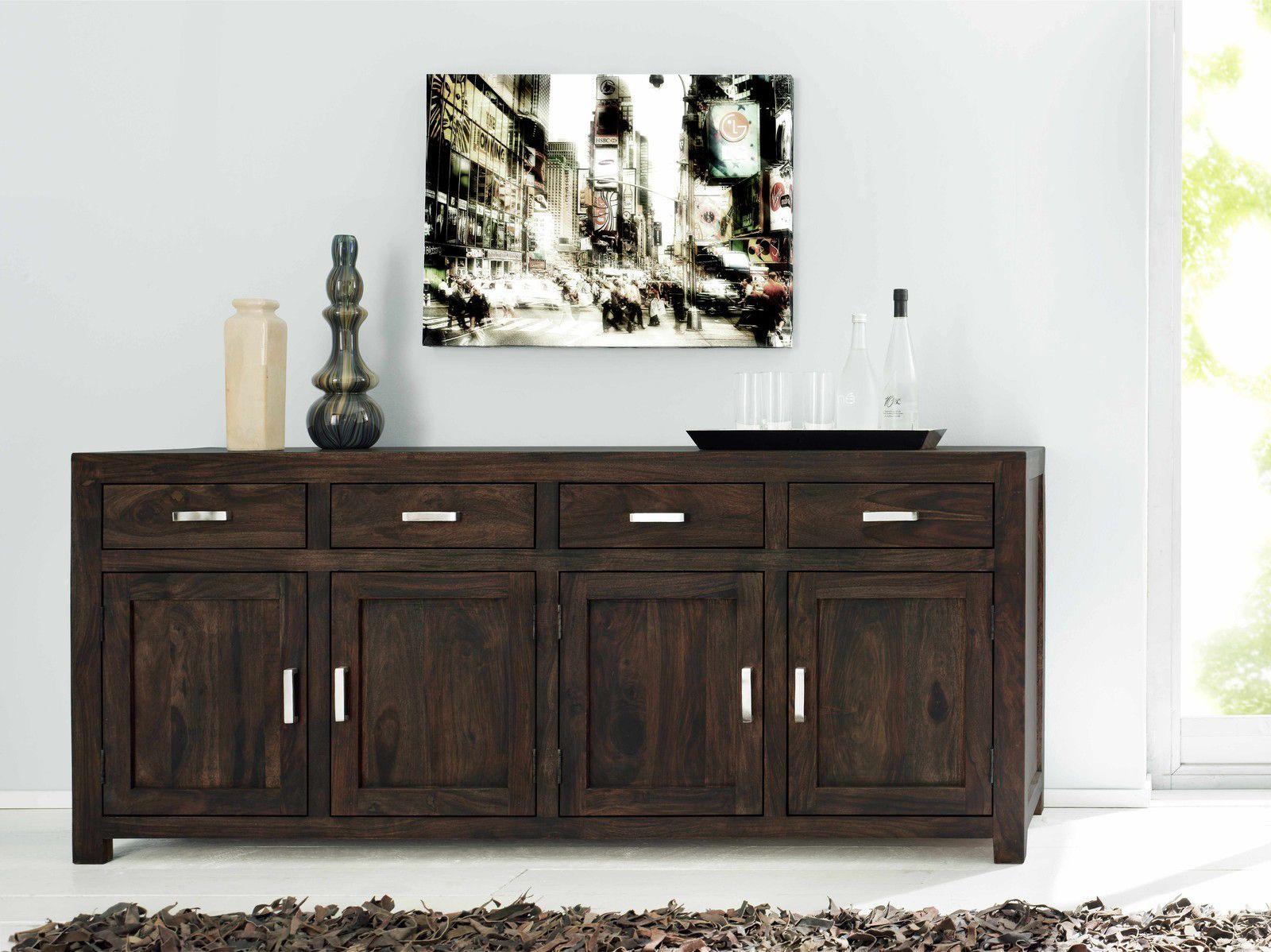 Stilvolles Sideboard Wiam 1513 Von Sam Sheesham Palisander Massiv 185 Cm Mit Farbauswahl Schubladenkommode Weiß Sideboard Kommode Buche