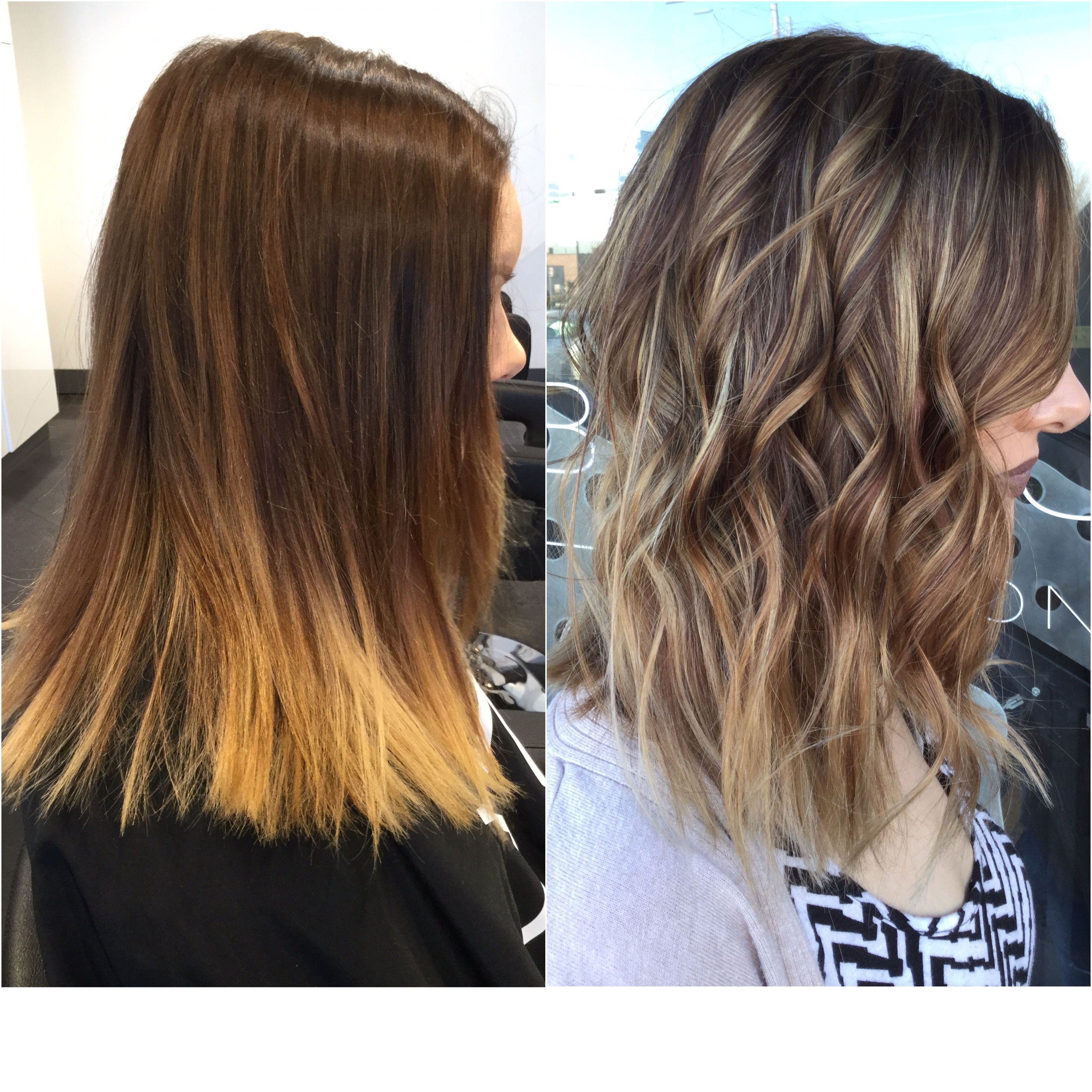 Before And After Blonde Highlights On Dark Brown Hair Brown Hair Balayage Dark Brown Hair Balayage Beauty Tips For Hair