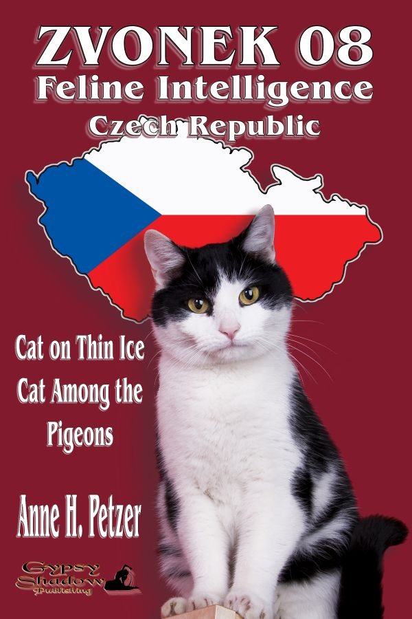 Zvonek the cat is witty, intelligent and fast, but he's more than that. He's feline agent 08, Feline Intelligence Czech Republic. Cat on Thin Ice/Cat among the Pigeons are the first two short stories of the FICR series by Anne H. Petzer. Available from Amazon, Barnes and Noble, Smashwords, other fine eBook vendors and Gypsy Shadow Publishing at: http://www.gypsyshadow.com/AnneHPetzer.html#Zvonek1