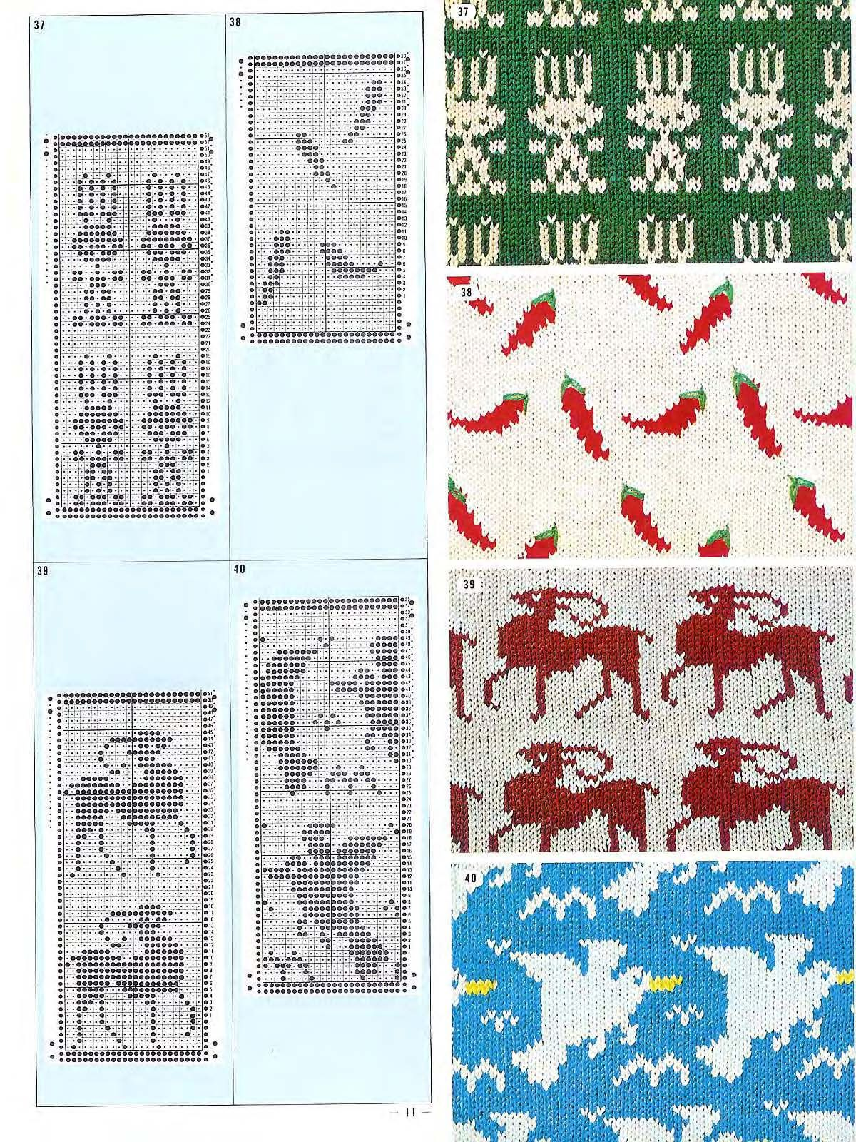 Pattern Library for Punch Card Knitter FAIRISLE | Maskinstrik ...