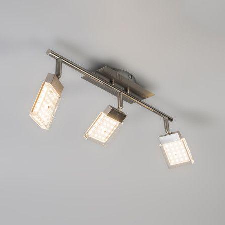 Spot Robo 3 LED Stahl Deckenlampe Lampe Innenbeleuchtung Wohnzimmerlampe