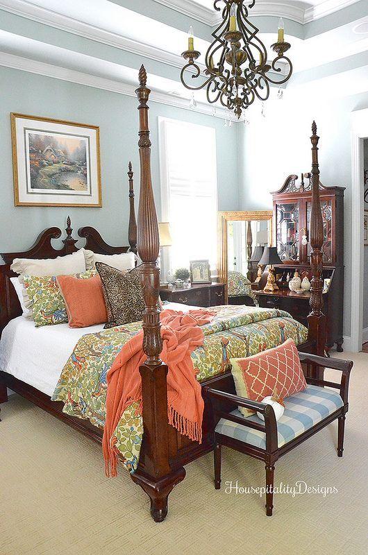 Master Bedroom Fall Pottery Barn Maya Bird Bedding