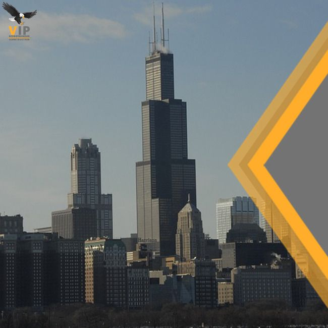The Willis Tower is one of the tallest buildings in the US. It was designed by Bruce Graham as nine square steel tubes clustered together.