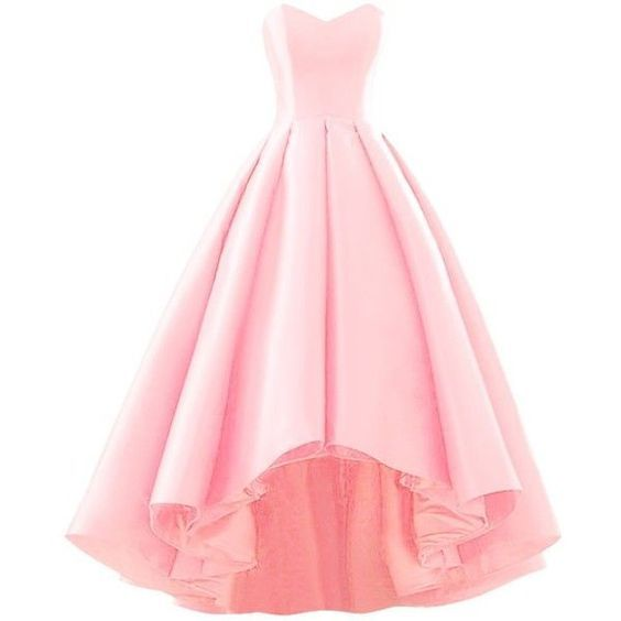 Pink Sweetheart Short Front Long Back A Line High Low Prom Dress ...