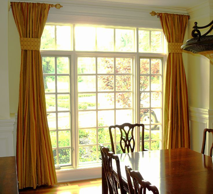 Short Curtain Rods For Sides | Decorative Side Panels With Short Rods