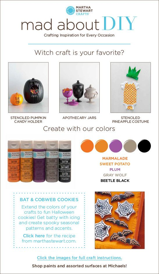Mad About DIY 3 Halloween Ideas from Martha Stewart Crafts and a - martha stewart halloween ideas
