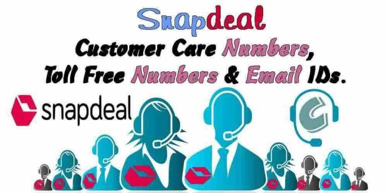 Snapdeal Customer Care Numbers Toll Free Numbers Email Ids Customer Care Customer Care Care Email Id