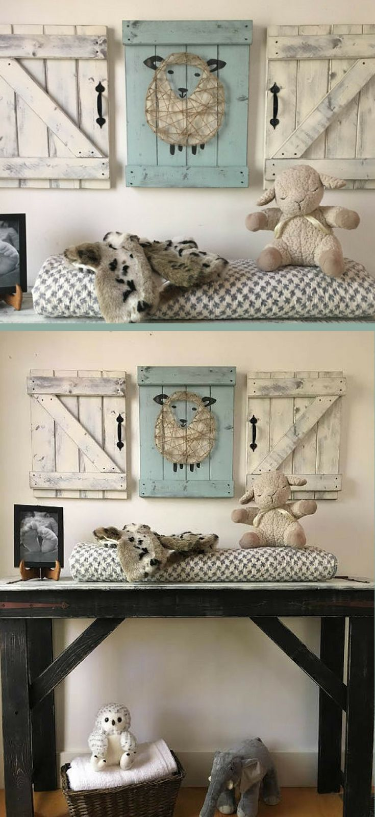 Sheep nursery decor pc set lamb nursery art rustic sheep decor