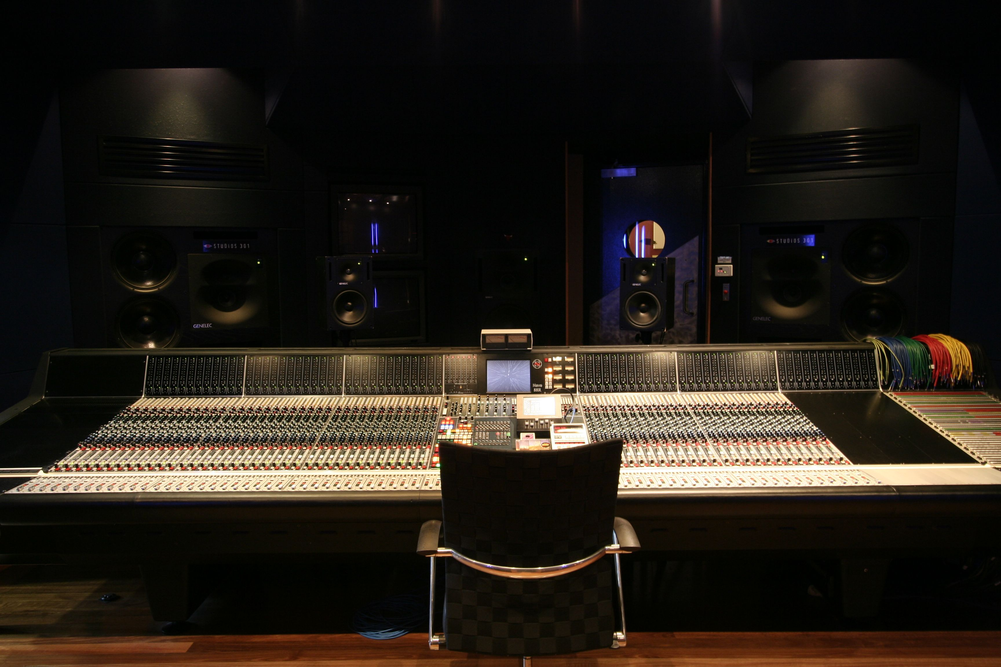 luxury recording studio with the neve 88r console
