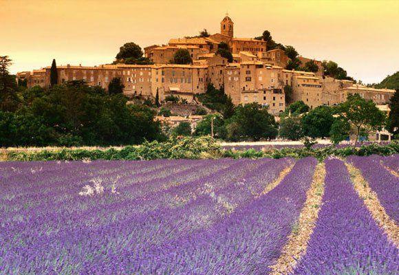 Aix en Provence, vista y campos de lavanda
