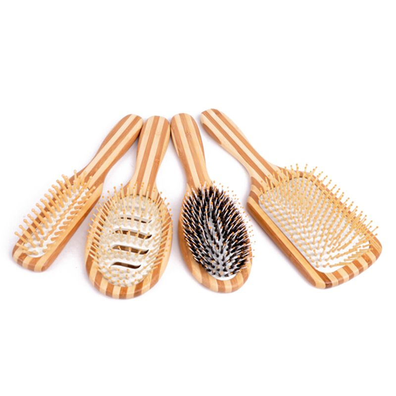 Hair Care Wooden Spa Massage Comb Wooden Paddle Pointed Handle