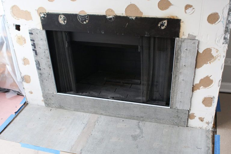 Adding Cement Board to Fireplace Surround The DIY