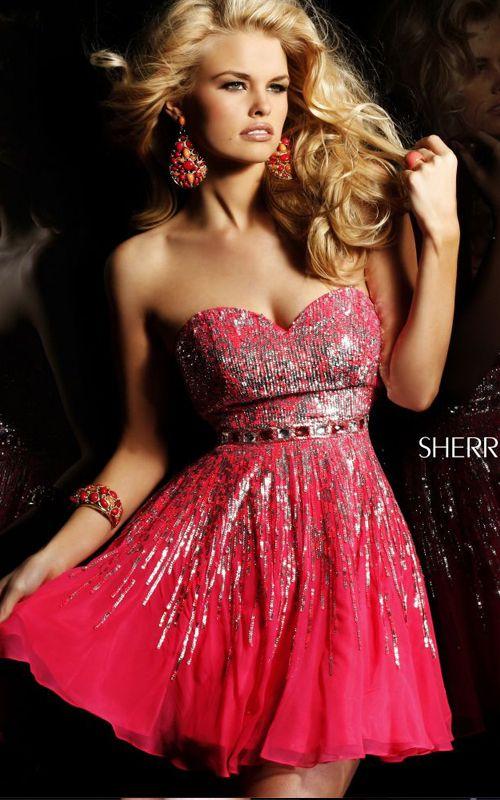 Red Sweetheart Sherri Hill 8413 Prom Dress