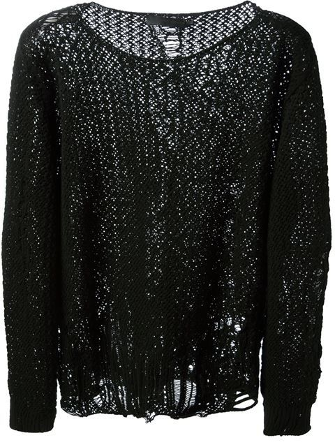 05fabf888b814 Shop Alexander McQueen distressed loose knit sweater in Vitkac from the  world s best independent boutiques at farfetch.com. Over 1000 designers  from 60 ...