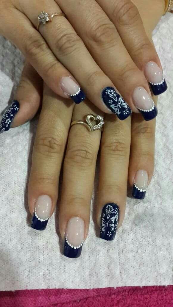 Azul Marino | Uñas | Pinterest | Azul marino, Marino y Azul