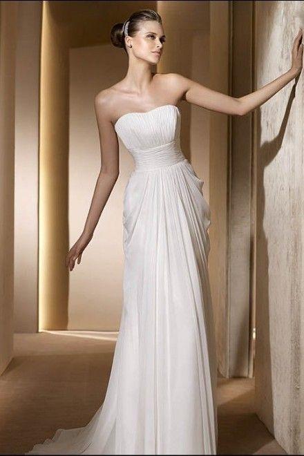 3e4cda15ba abito da #sposa liscio, semplice e lineare <3 | Wedding dresses with ...