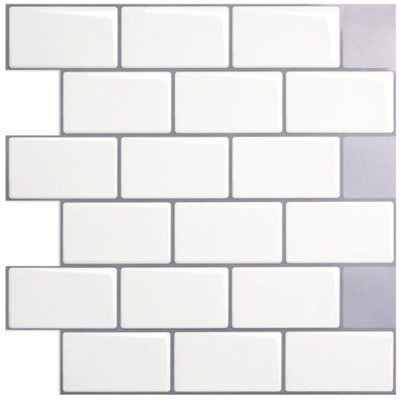 Art3d Peel And Stick Backsplash Tiles White Kitchen Backsplash