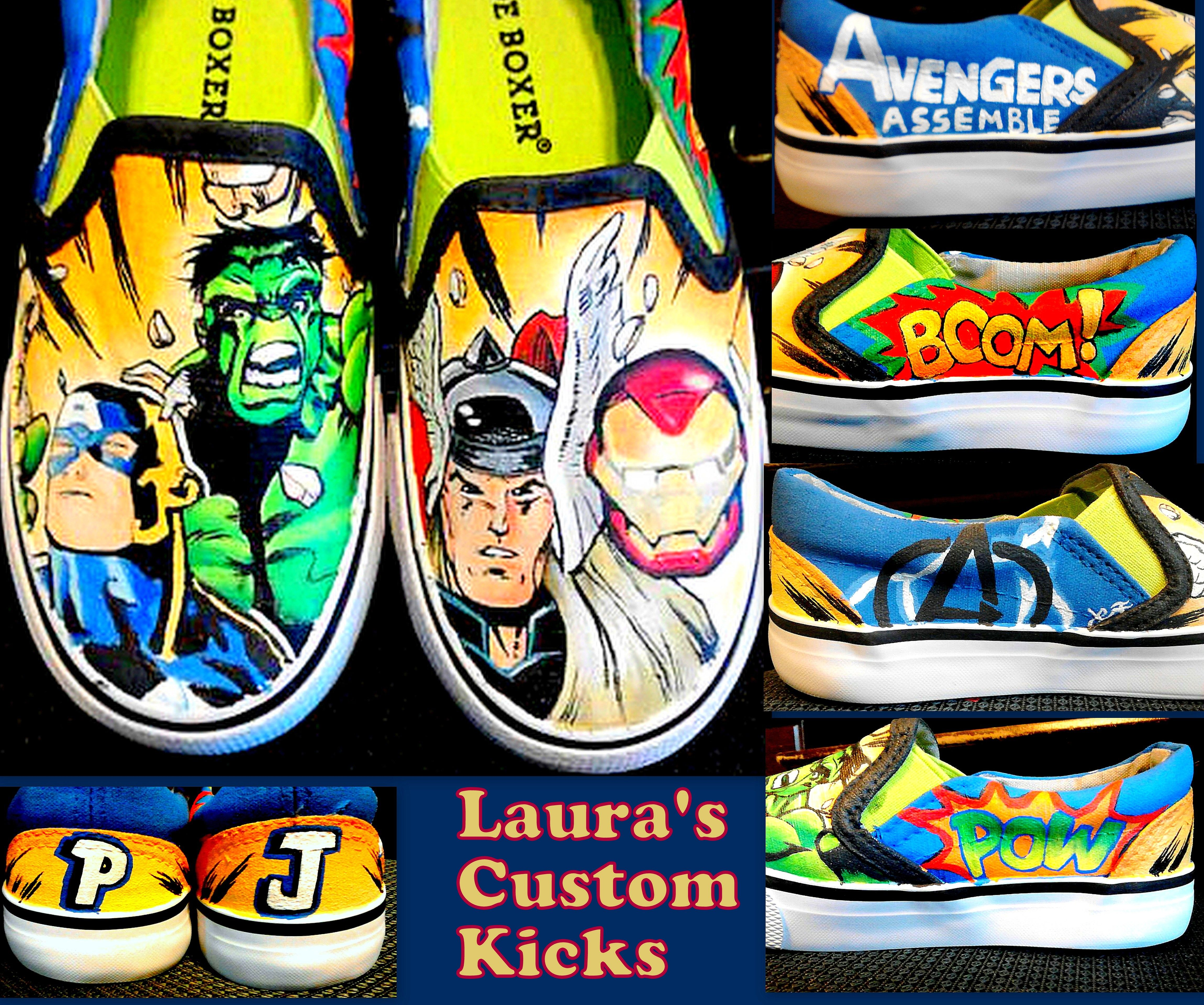 Hulk Sneaker Hulk  Shoes Custom Sneaker Captain America Avengers End Game Shoes Avengers Endgame