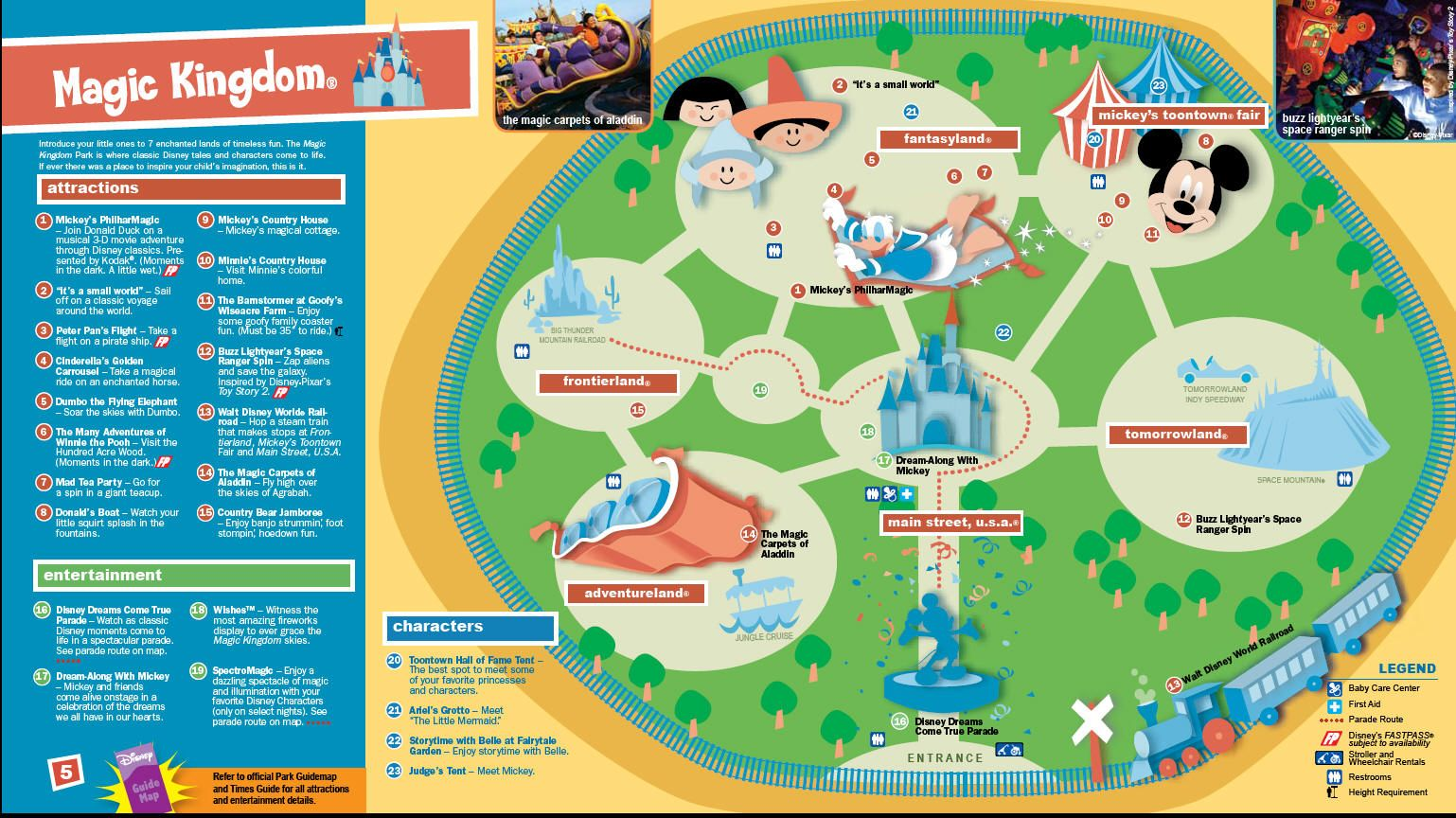 Toddler friendly activities in the magic kingdom emmetess a map of the magic kingdom in walt disney world for preschoolers gumiabroncs Gallery