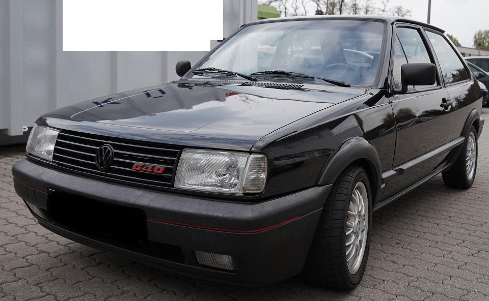 Original Vw Polo 86c Coupe G40 In Schwarz Mit Kompressor
