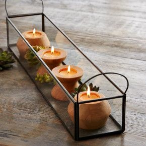 Bamboo Reversible Candleholder Collection