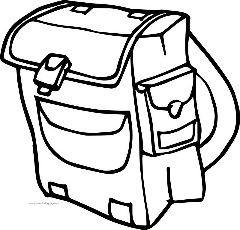 A School Bag Coloring Page Also See The Category To Read More