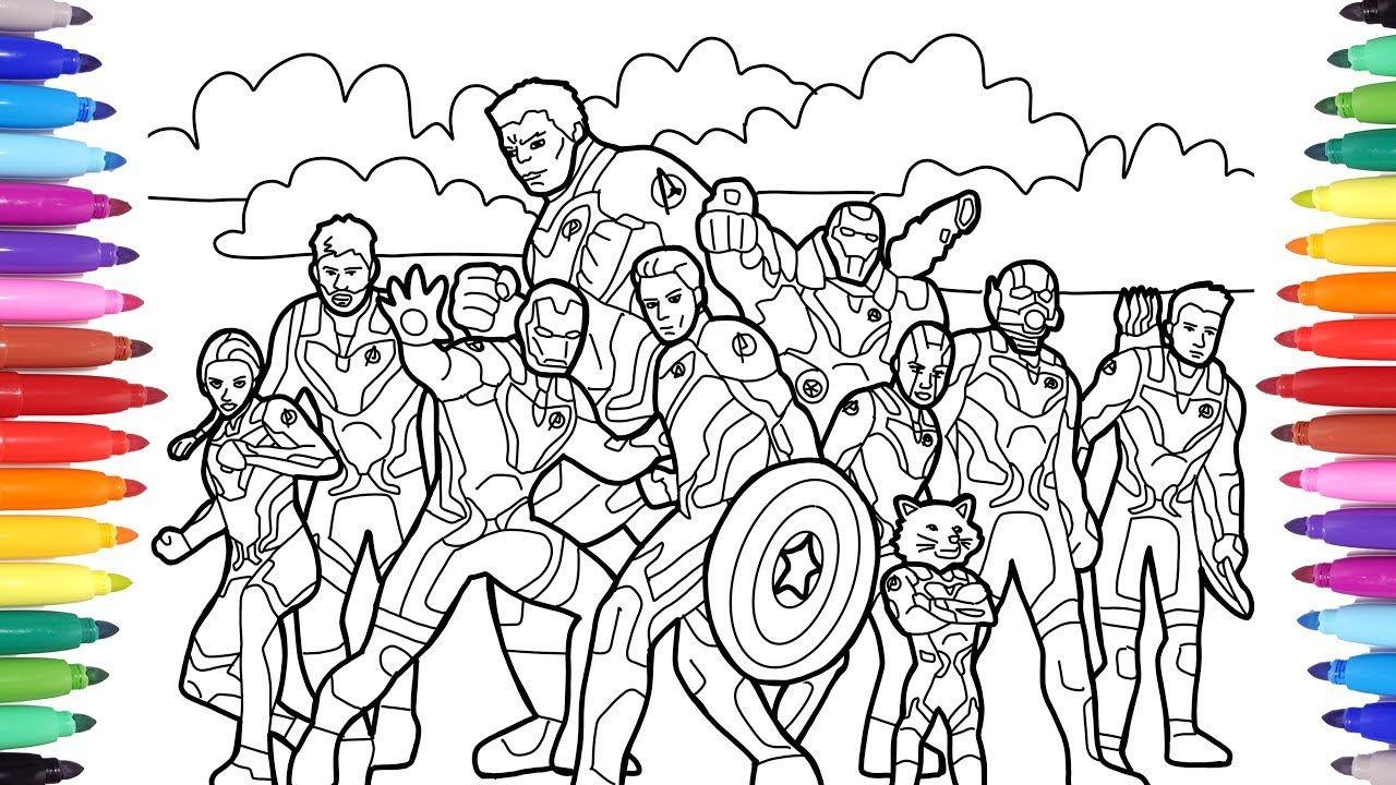 Avengers Endgame Coloring