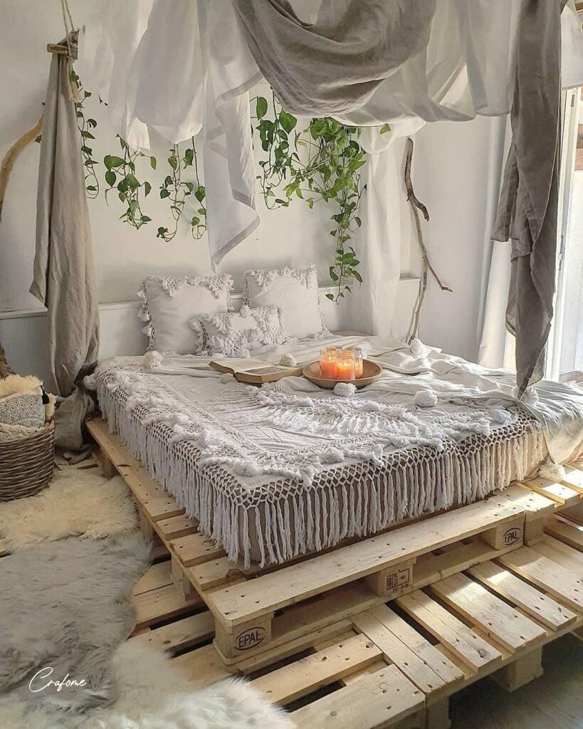 50 Adorable Pallet Bed Ideas You Will Love Crafome Palletbed