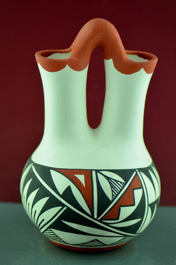 Authentic Wedding Vase Pottery Acoma Native American Wedding Vase