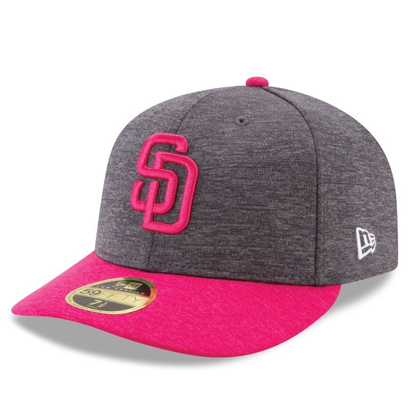 best service 240e0 c817a San Diego Padres New Era Mother s Day Low Profile 59FIFTY Fitted Hat -  Graphite Pink