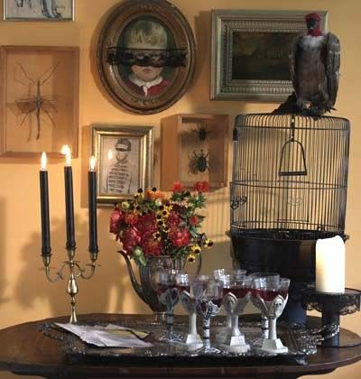 Candles and creepy wine glasses - Spooky Halloween Ideas for Scary