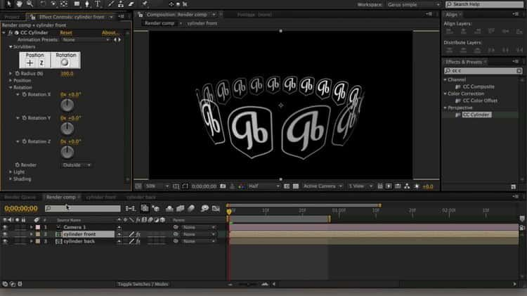 03 After Effects Cc Cylinder After Effects After Effect Tutorial Tutorial