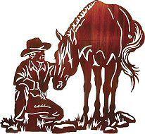 Western Cowboy Horse Wall Art Metal Wall Art Art