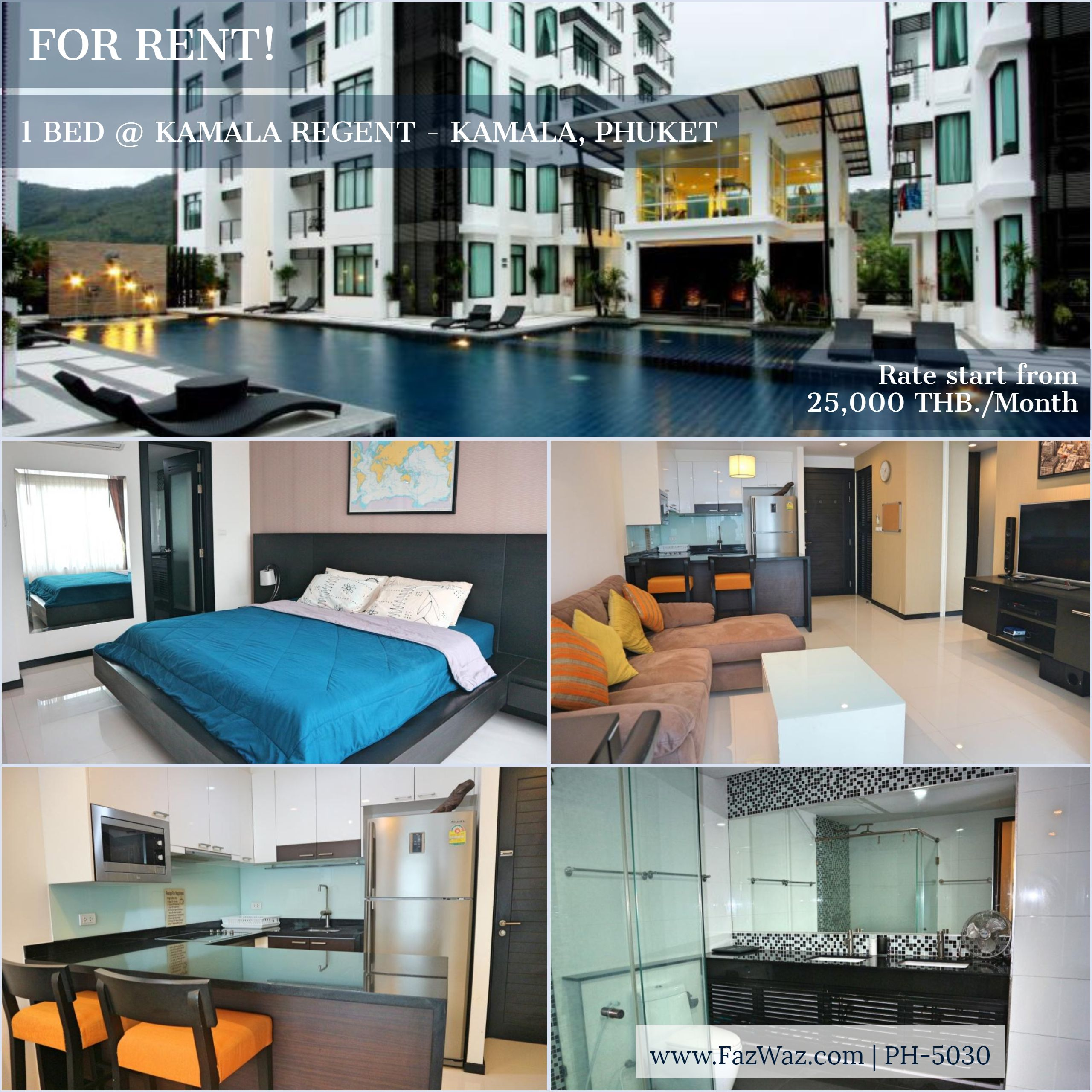1 Bedroom Modern Apartment For Rent Modernapartment Apartmentforrent Phuket Thailand Lofts For Rent Apartments For Rent Condos For Rent