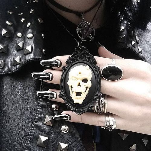 Pin by BelaBlack.com on Different Nail Shapes | Gothic ...