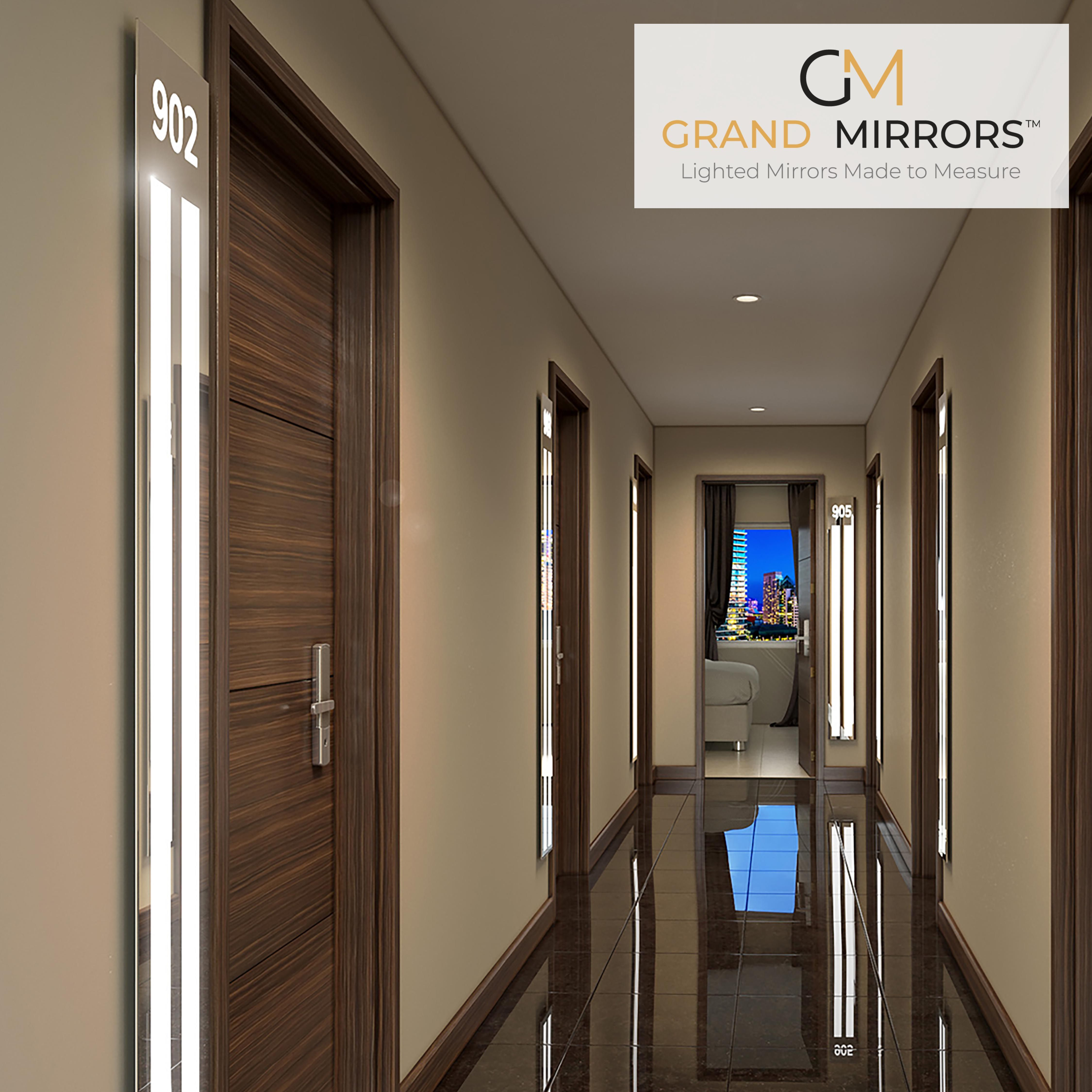 Integrated Light Mirrors Grand Mirrors Mirror With Lights Bathroom Mirror Lights Hallway Light Fixtures