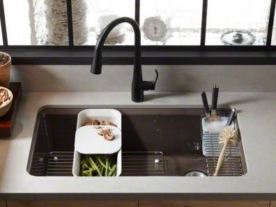 kohler kitchen sink accessories inexpensive table sets k 58715ua3 20 riverby 33 under mount single bowl with suede at plumbersurplus com