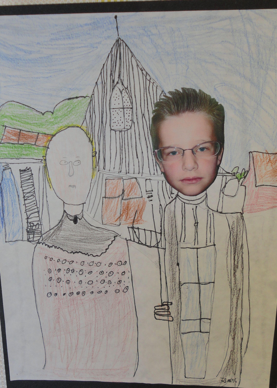 American Gothic Self Portrait