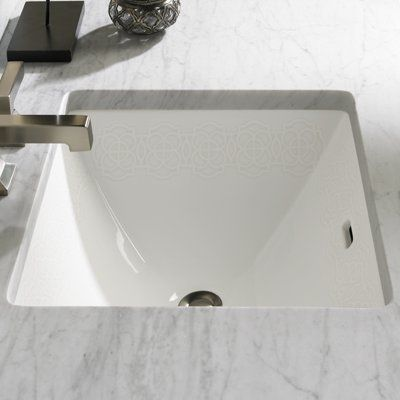 Toto Waza Vitreous China Rectangular Undermount Bathroom Sink With Overflow Finish Cotton Tiraz Undermount Bathroom Sink Sink Wall Mounted Bathroom Sinks