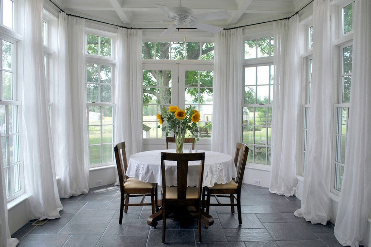 ordinary large windows for sunroom #4: Sunroom window treatment ideas is one of the best idea for you to remodel  or redecorate