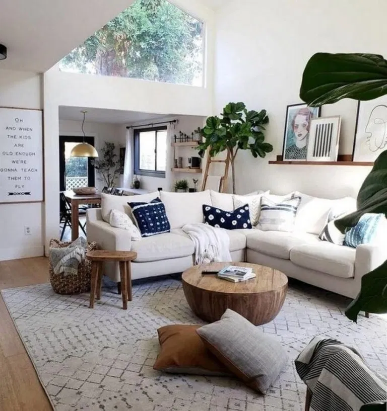 40 Elegant And Simple White Living Room For Your House In 2020 Small Apartment Living Room Small Apartment Decorating Living Room Living Room Scandinavian #small #white #living #room