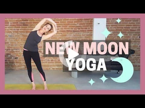 new moon yoga flow ☽ set your intention  tune in in 2020
