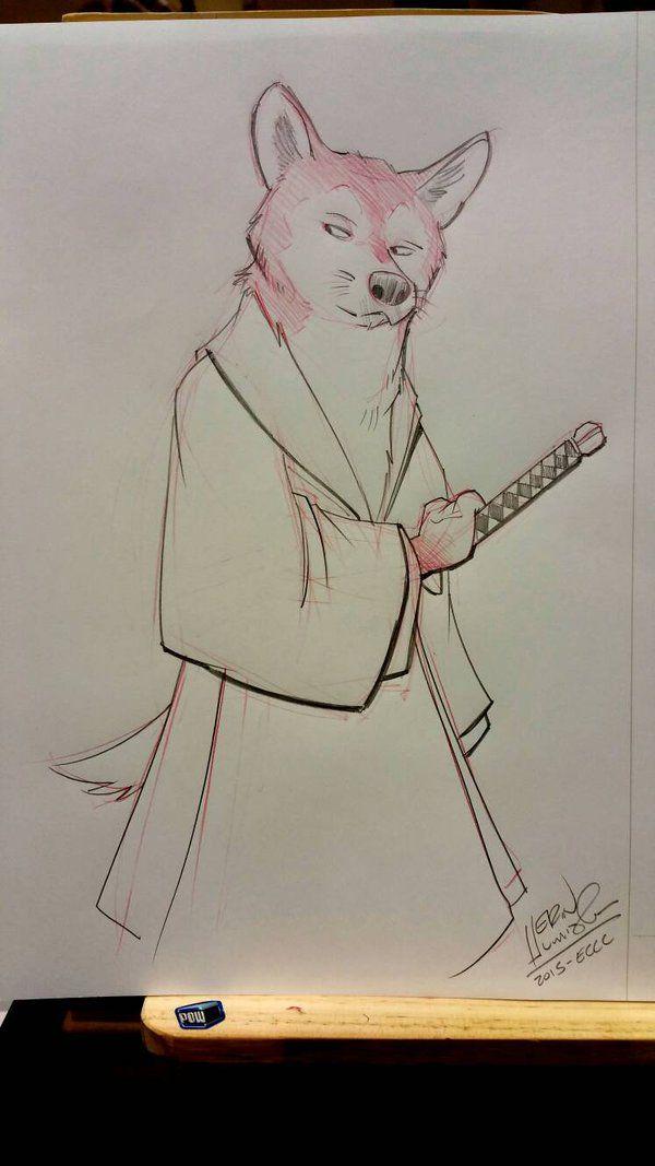 Samurai Dog by basakward.deviantart.com on @DeviantArt  ECCC 2015 commission