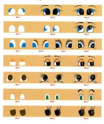 Air dry clay tutorials painting eyes step by 342 for Clay mural tutorial