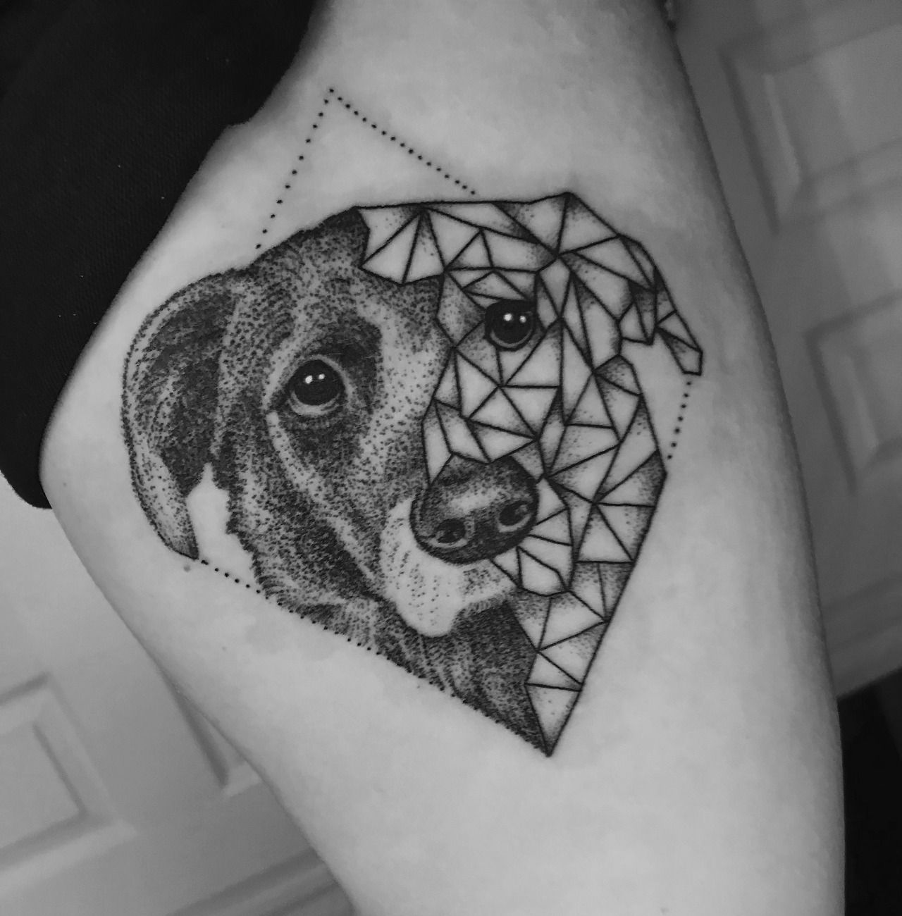 done by zeke yip at chronic ink in markham ontario dog tattoo