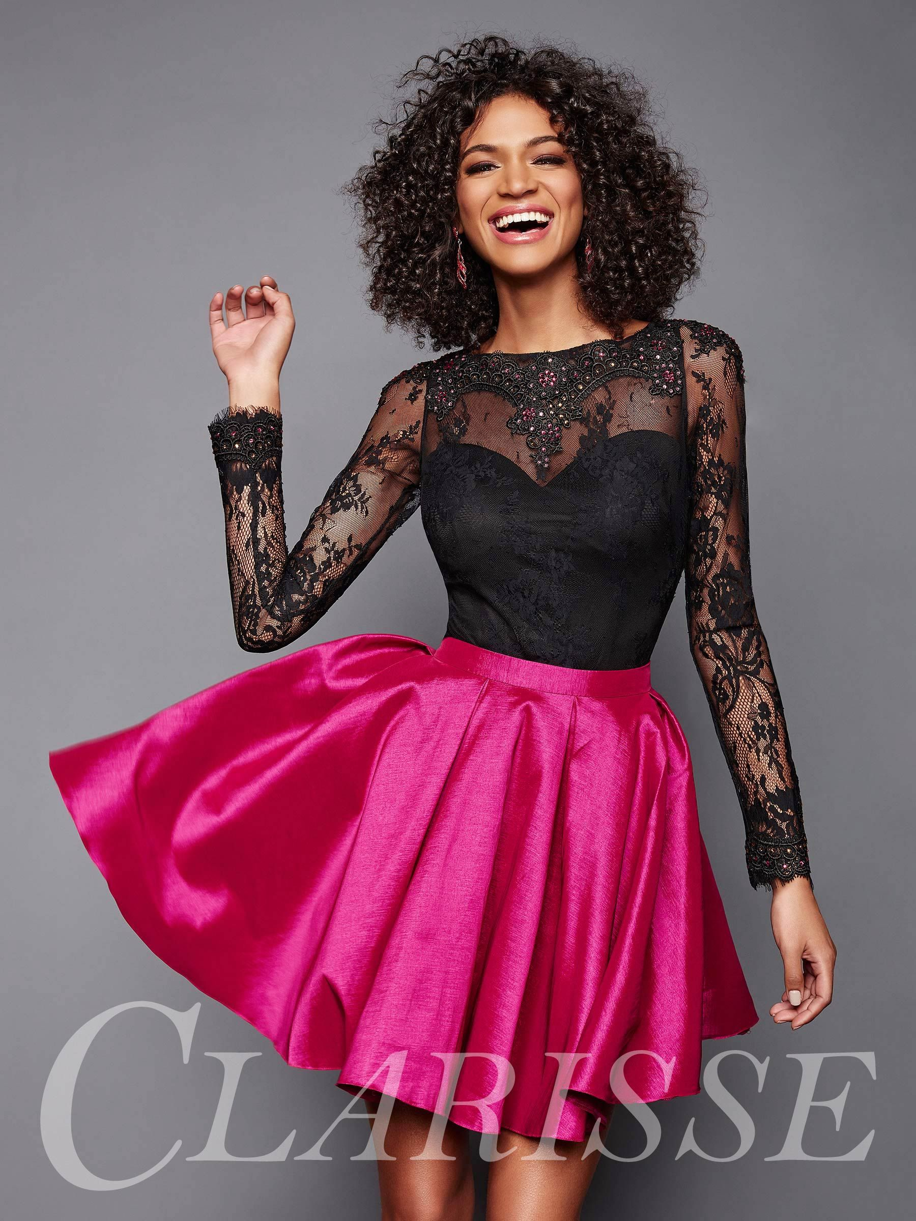 5e36082148f3 Hot Pink Dresses, Hot Pink Skirt, Black Prom Dresses, Grad Dresses, Mini