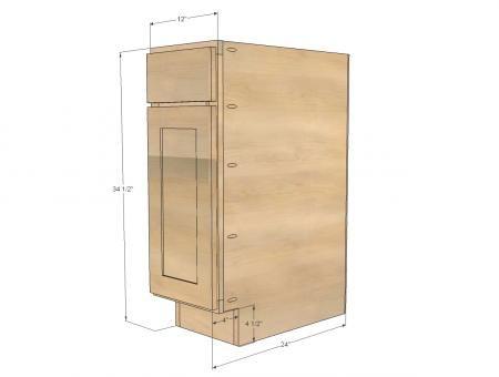 Best 12 Base Cabinet Door Drawer Combo Momplex White Kitchen 400 x 300